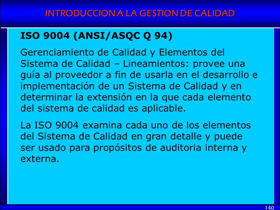 ISO 9004 (ANSI/ASQC Q 94)