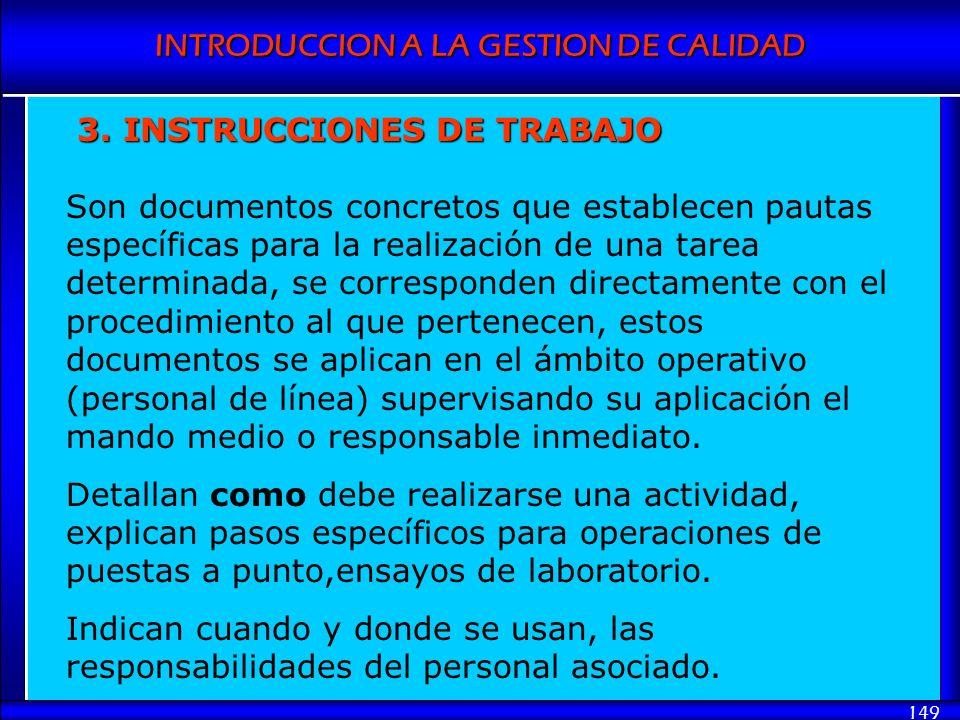 3. INSTRUCCIONES DE TRABAJO