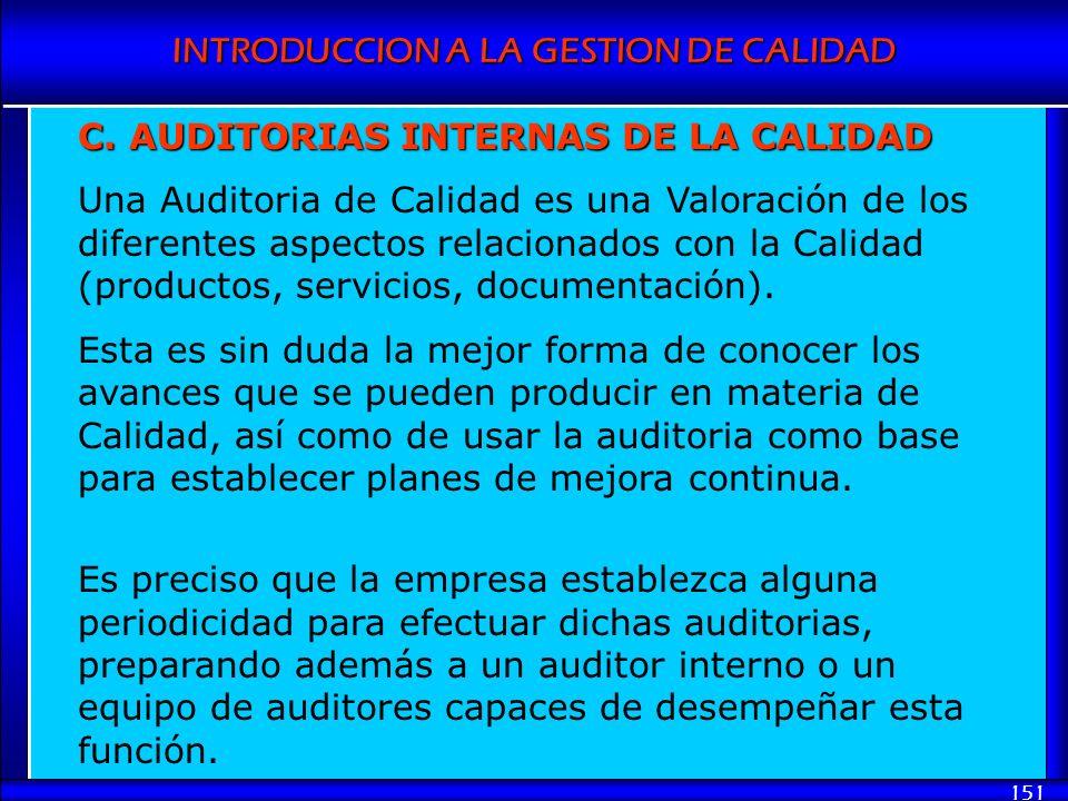 C. AUDITORIAS INTERNAS DE LA CALIDAD
