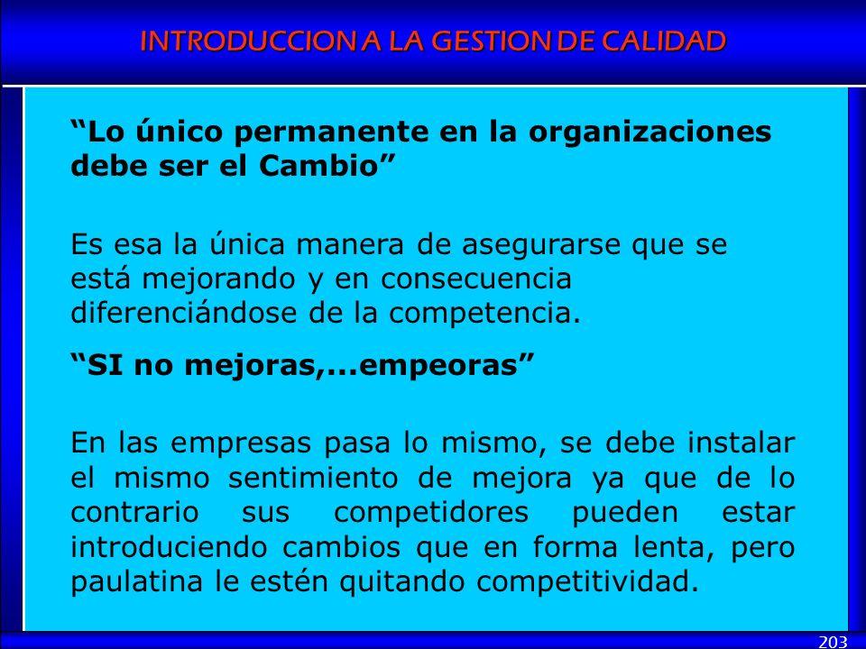 Lo único permanente en la organizaciones debe ser el Cambio