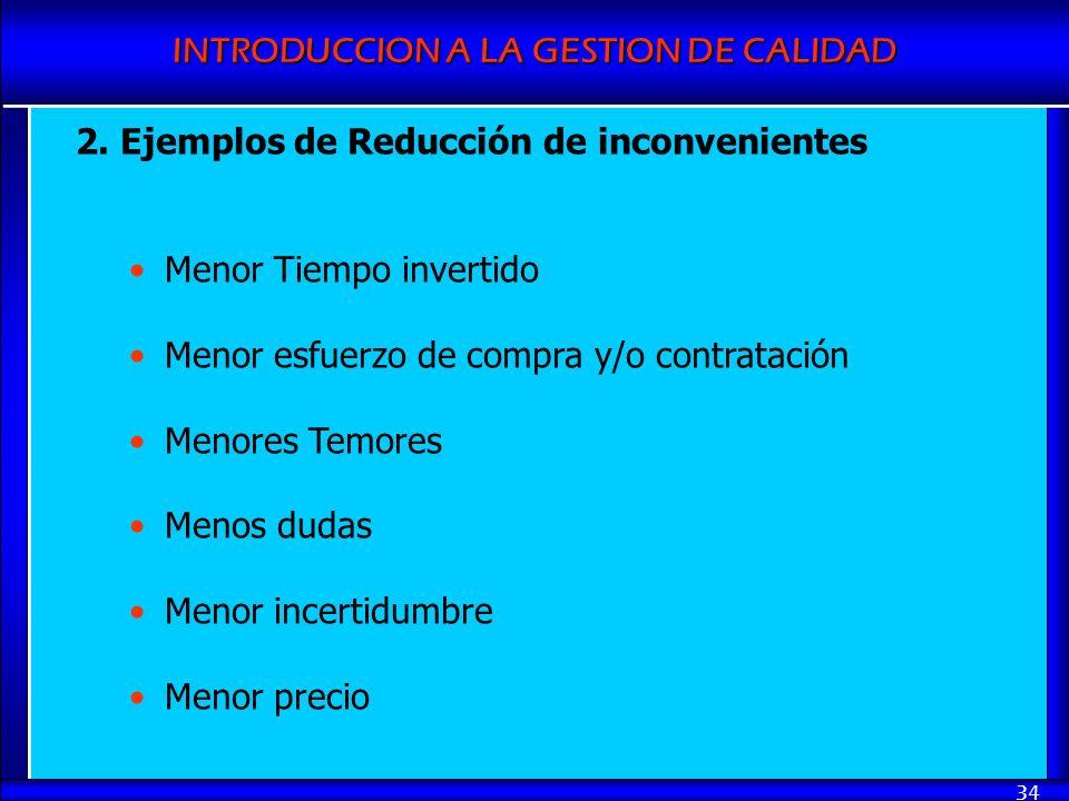 2. Ejemplos de Reducción de inconvenientes