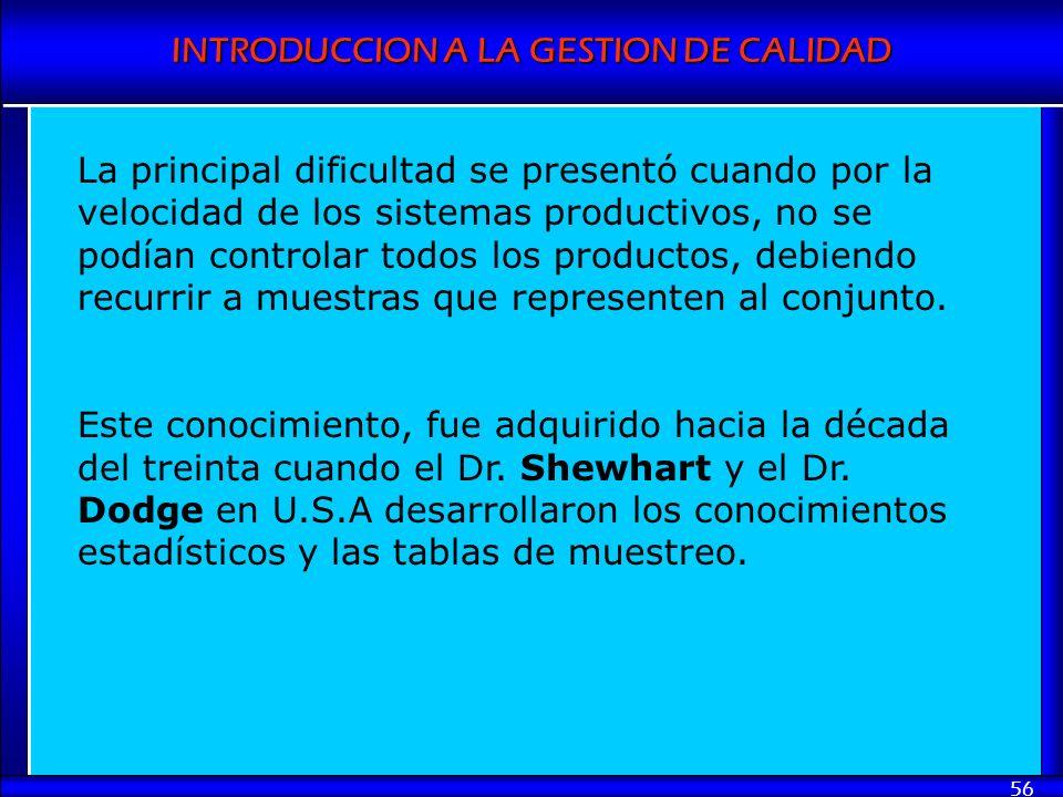 La principal dificultad se presentó cuando por la velocidad de los sistemas productivos, no se podían controlar todos los productos, debiendo recurrir a muestras que representen al conjunto.