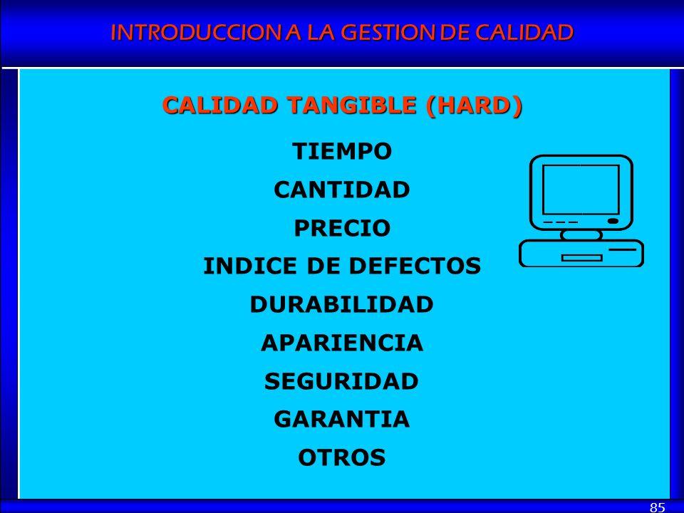 CALIDAD TANGIBLE (HARD)