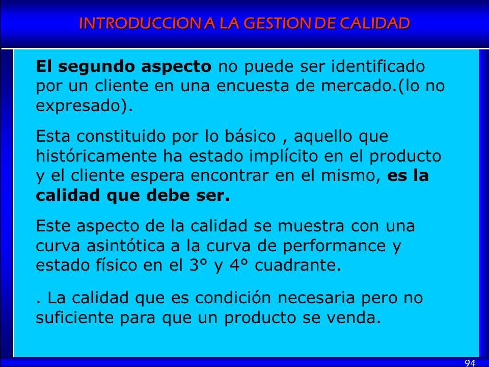 El segundo aspecto no puede ser identificado por un cliente en una encuesta de mercado.(lo no expresado).