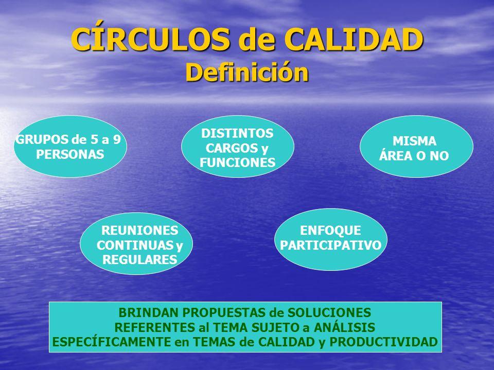 CÍRCULOS de CALIDAD Definición