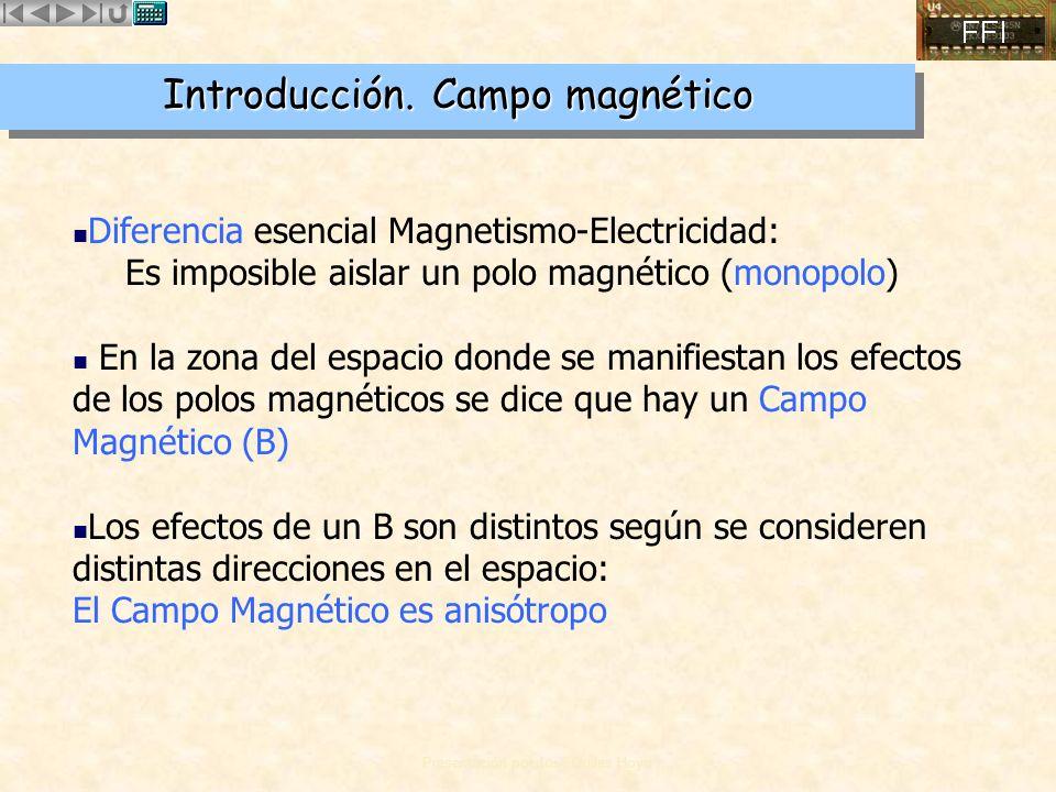 Introducción. Campo magnético