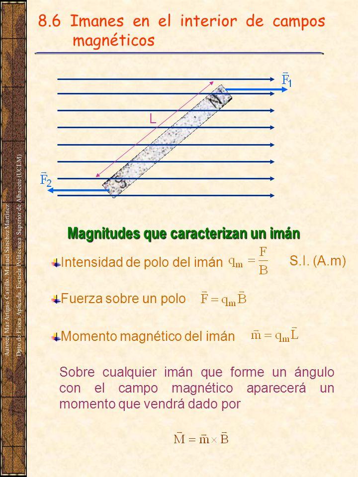 8.6 Imanes en el interior de campos magnéticos