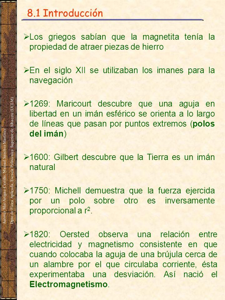 8.1 Introducción Los griegos sabían que la magnetita tenía la propiedad de atraer piezas de hierro.