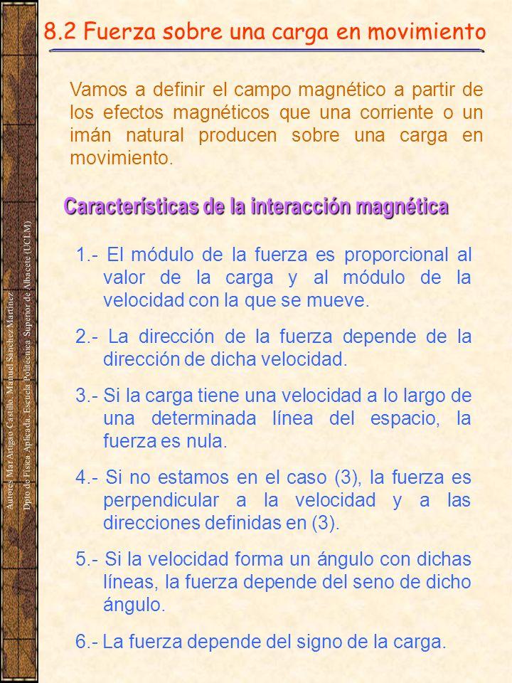 Características de la interacción magnética
