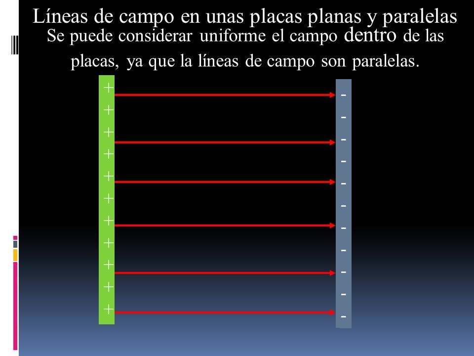 Líneas de campo en unas placas planas y paralelas