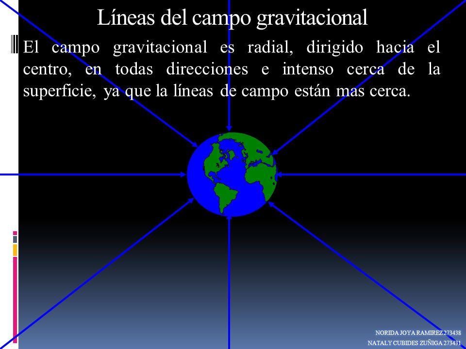 Líneas del campo gravitacional