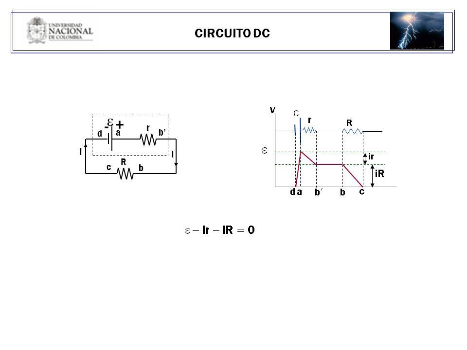 CIRCUITO DC b' d I - + a R r c b e