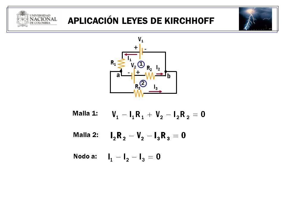 APLICACIÓN LEYES DE KIRCHHOFF