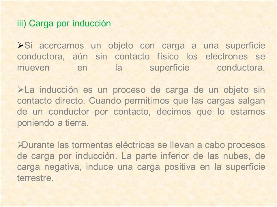 iii) Carga por inducción