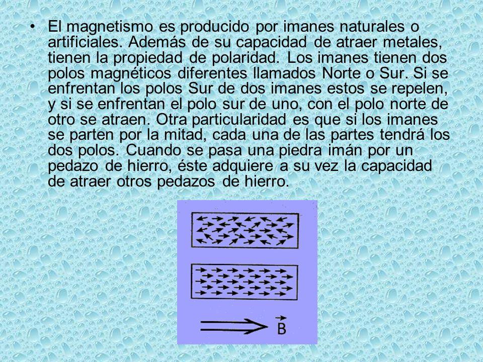 El magnetismo es producido por imanes naturales o artificiales