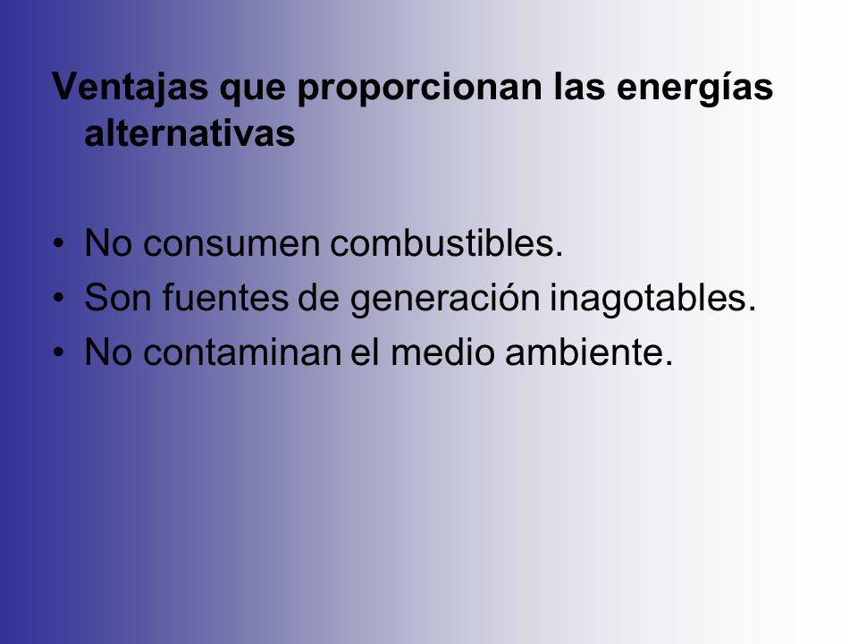 Ventajas que proporcionan las energías alternativas