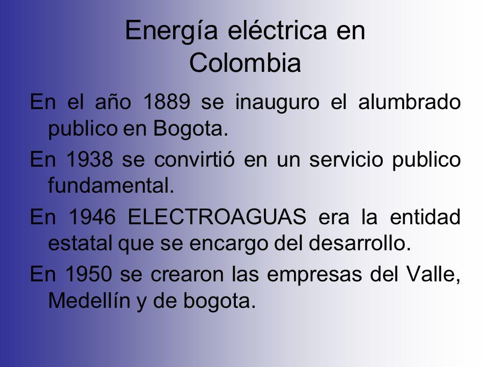 Energía eléctrica en Colombia