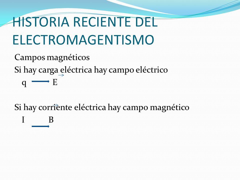 HISTORIA RECIENTE DEL ELECTROMAGENTISMO