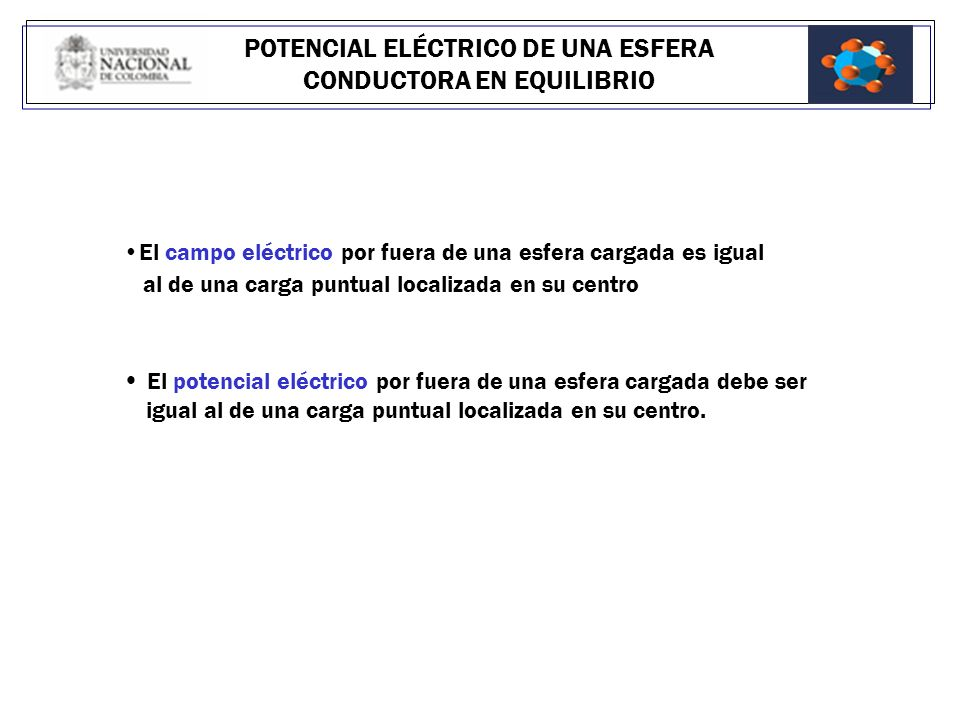 Potencial el ctrico ppt video online descargar for Potencial interno a esfera