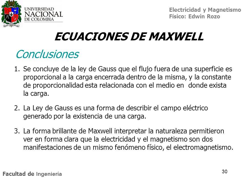 ECUACIONES DE MAXWELL Conclusiones