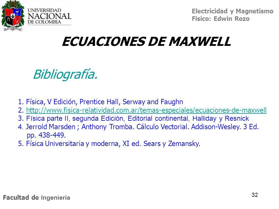 ECUACIONES DE MAXWELL Bibliografía.