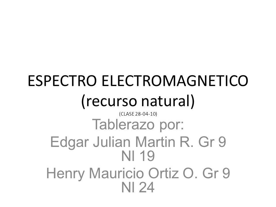 ESPECTRO ELECTROMAGNETICO (recurso natural) (CLASE 28-04-10)