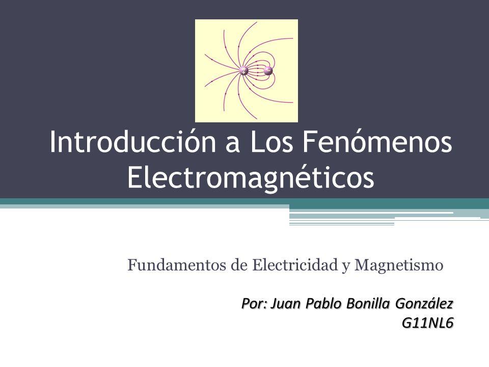 Introducción a Los Fenómenos Electromagnéticos