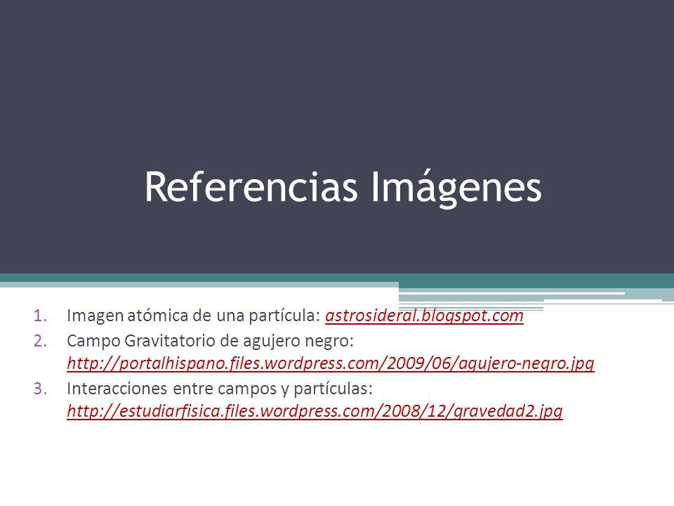 Referencias ImágenesImagen atómica de una partícula: astrosideral.blogspot.com.