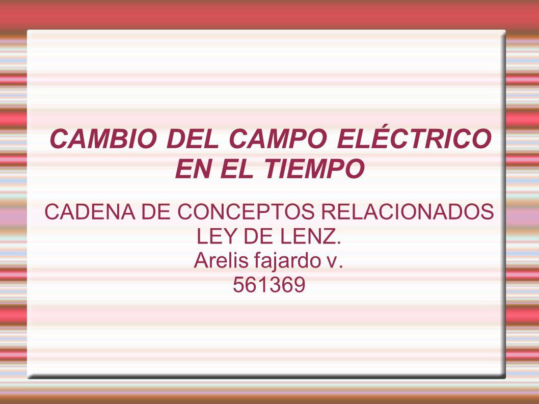 CAMBIO DEL CAMPO ELÉCTRICO EN EL TIEMPO