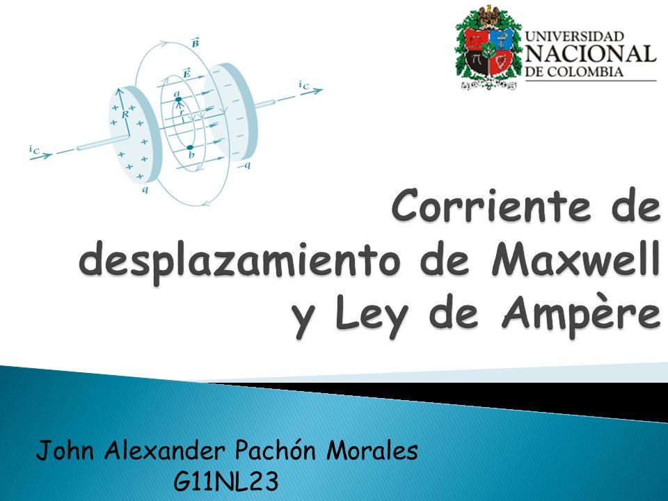 Corriente de desplazamiento de Maxwell y Ley de Ampère