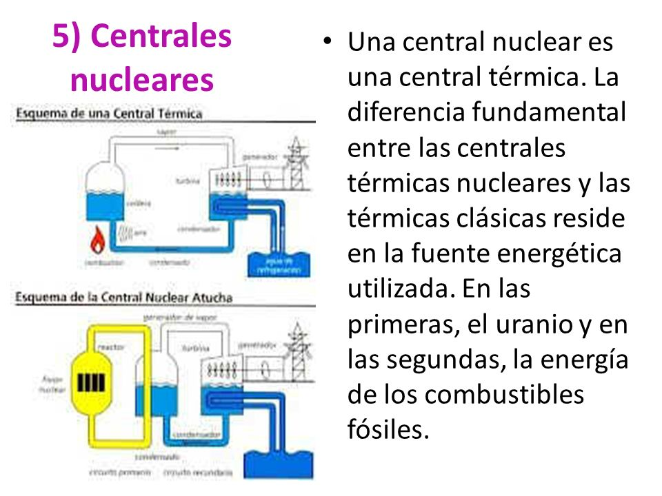 5) Centrales nucleares