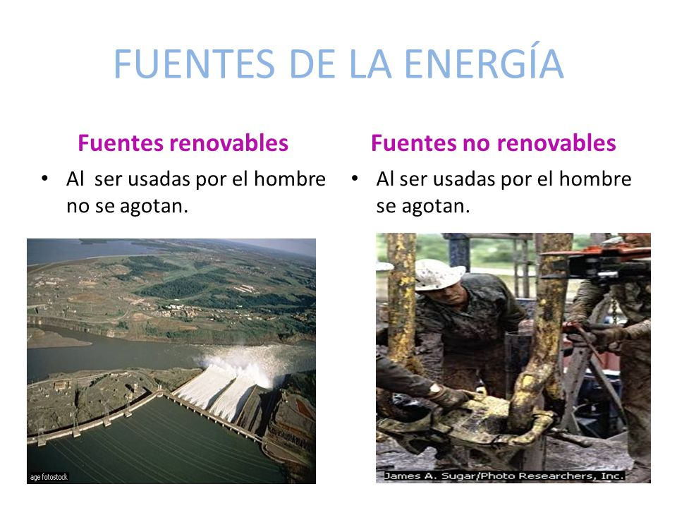 FUENTES DE LA ENERGÍA Fuentes renovables Fuentes no renovables