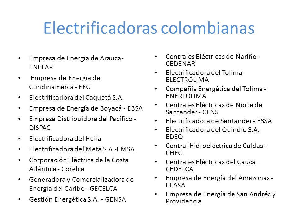 Electrificadoras colombianas