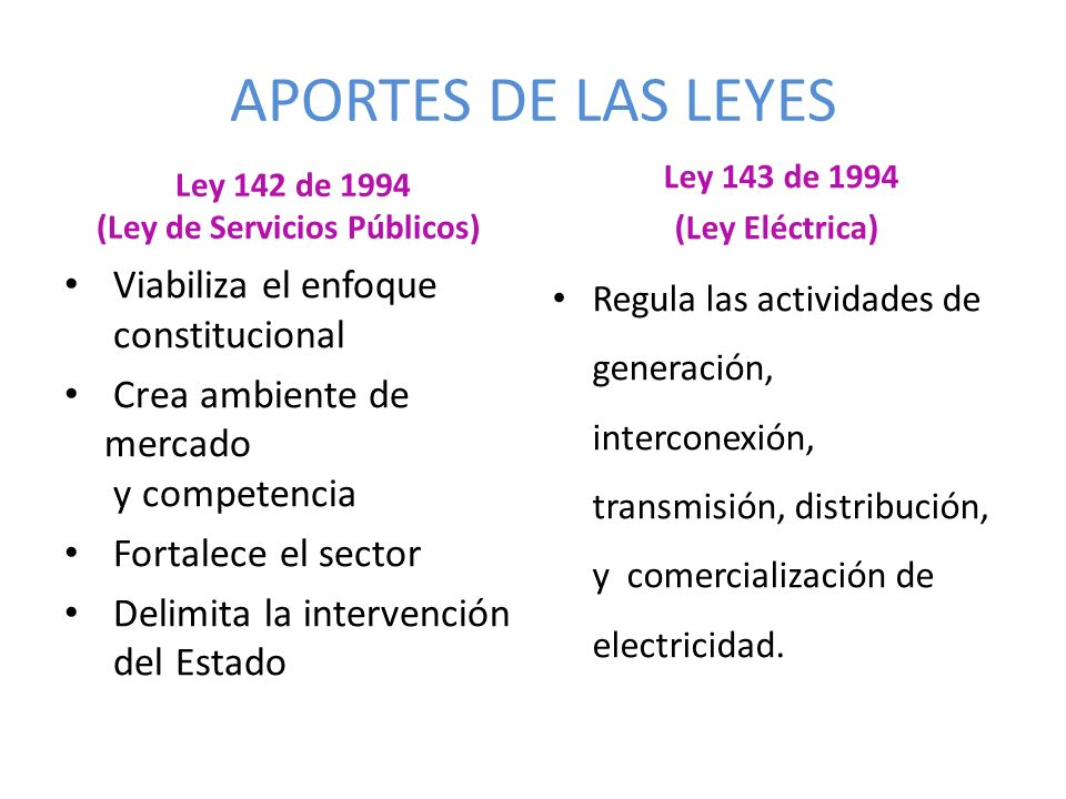 Ley 142 de 1994 (Ley de Servicios Públicos)