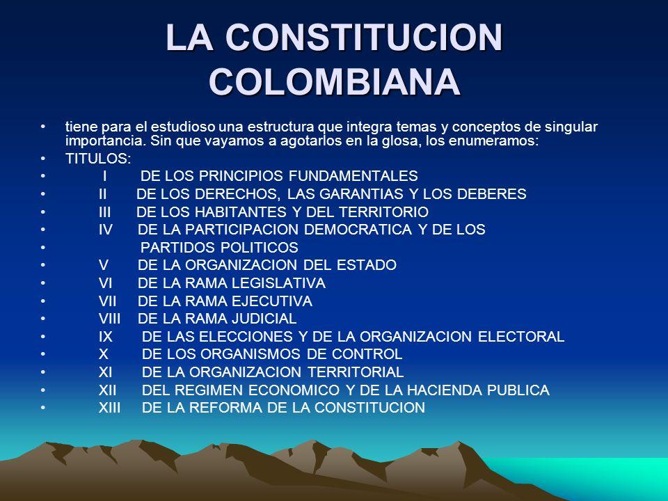 LA CONSTITUCION COLOMBIANA