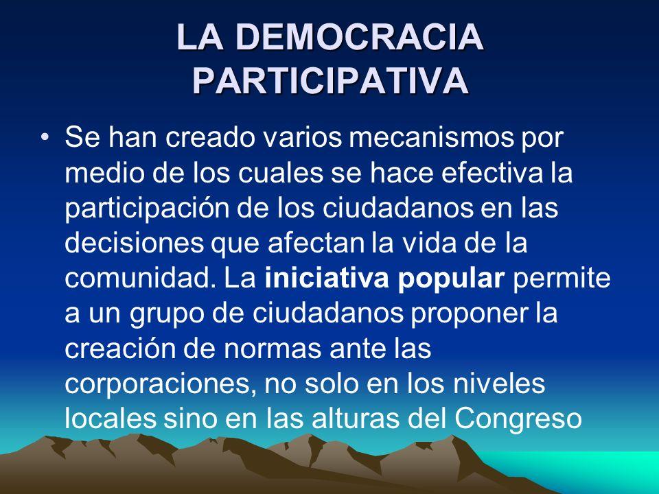 LA DEMOCRACIA PARTICIPATIVA