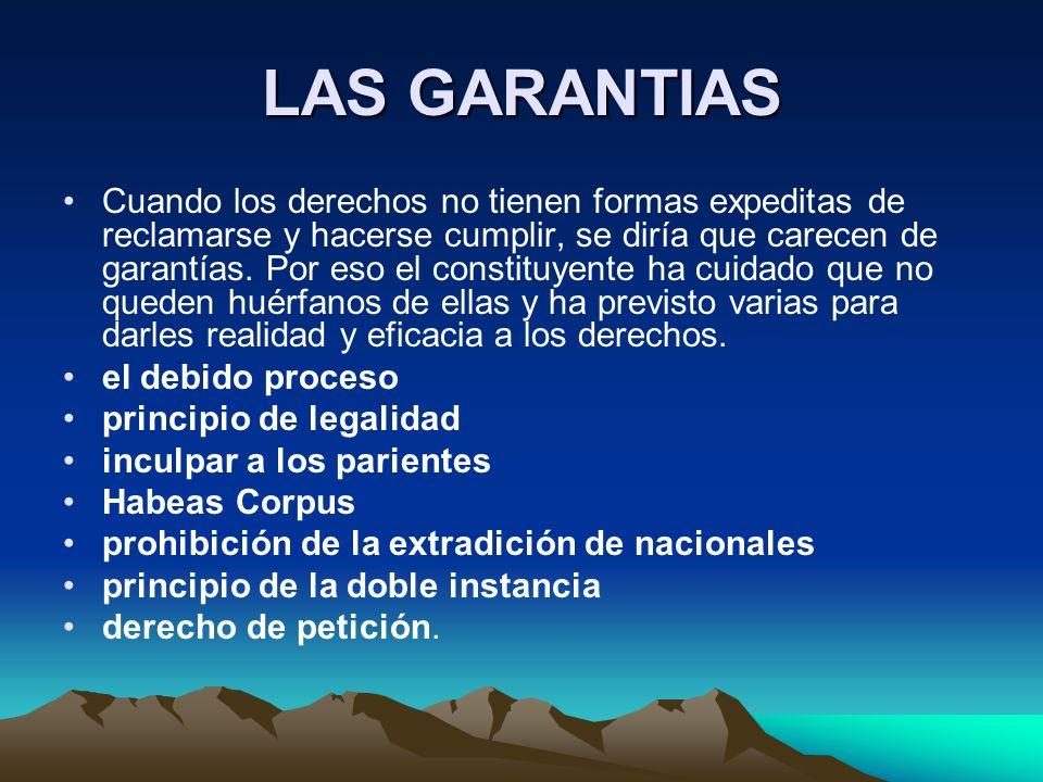 LAS GARANTIAS