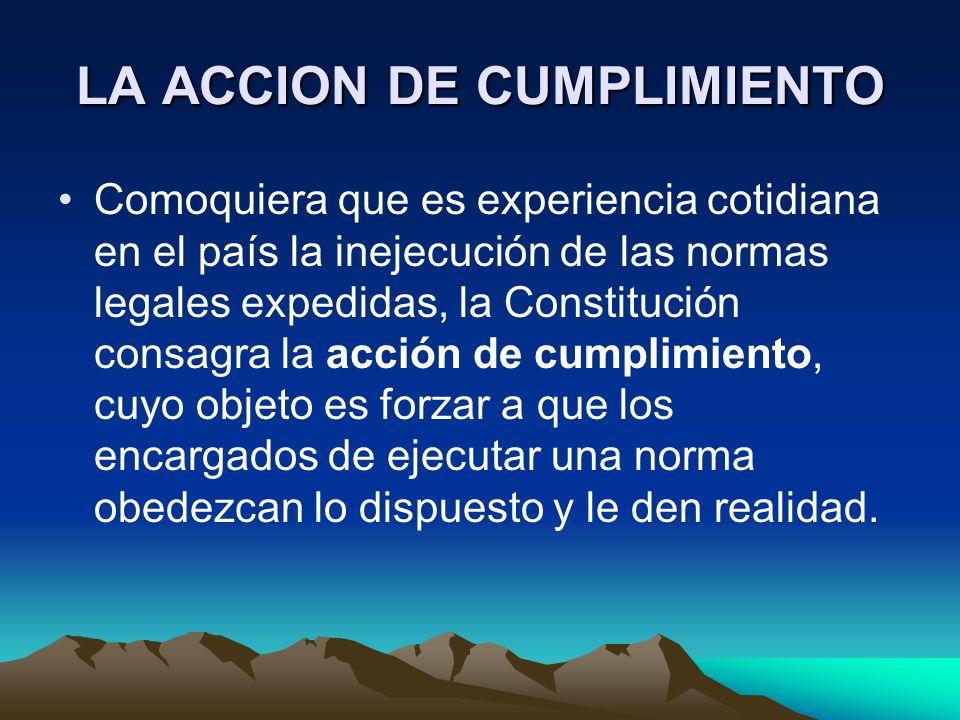 LA ACCION DE CUMPLIMIENTO