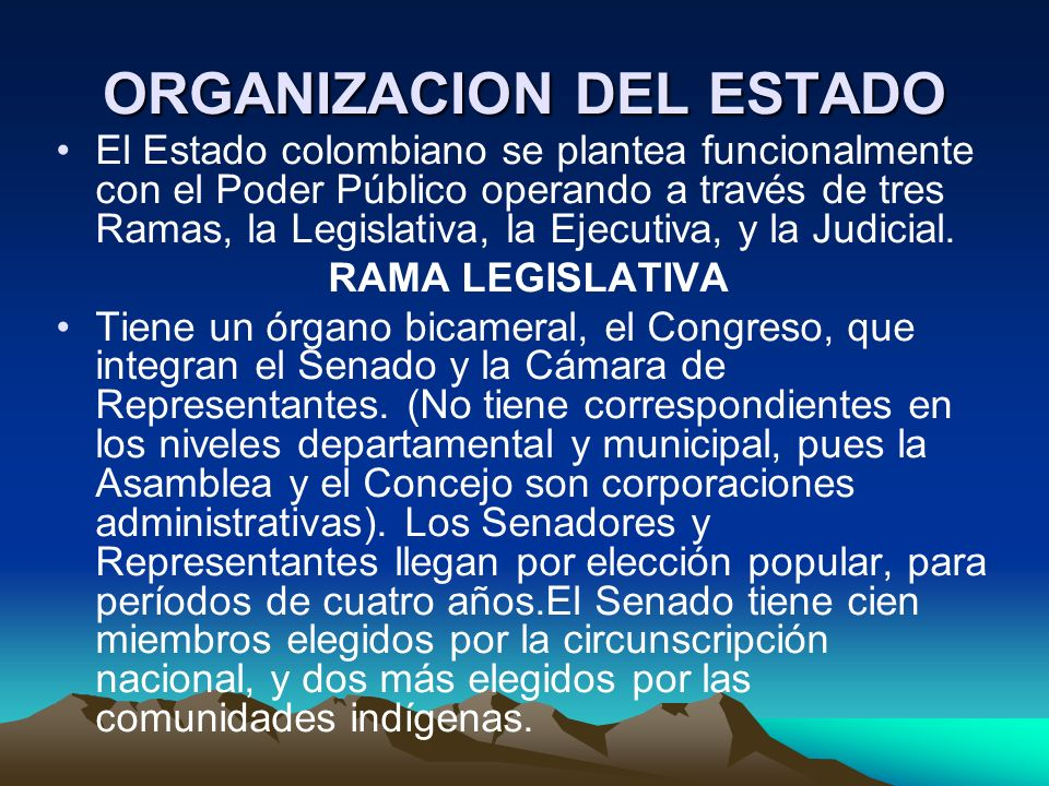 ORGANIZACION DEL ESTADO