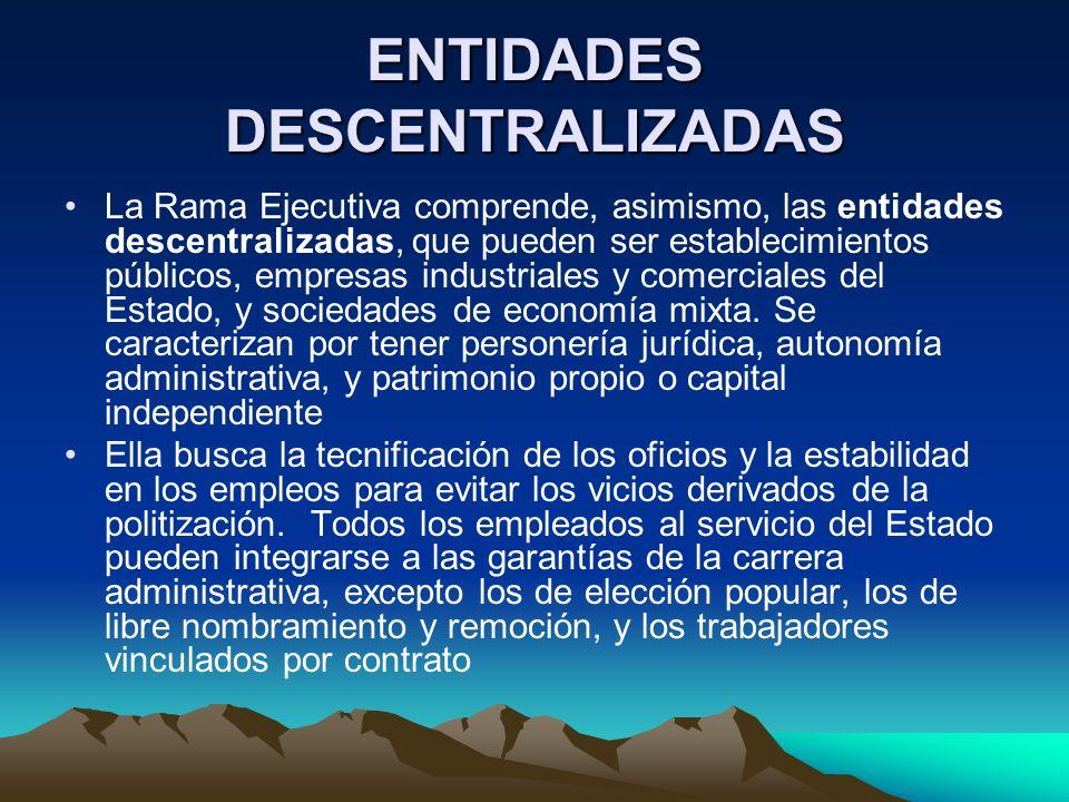 ENTIDADES DESCENTRALIZADAS