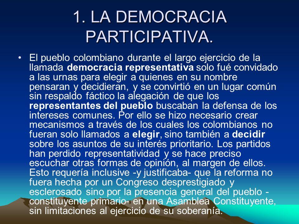 1. LA DEMOCRACIA PARTICIPATIVA.