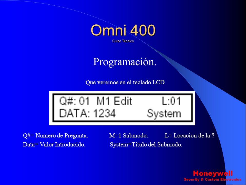 Omni 400 Curso Técnico Programación. Honeywell