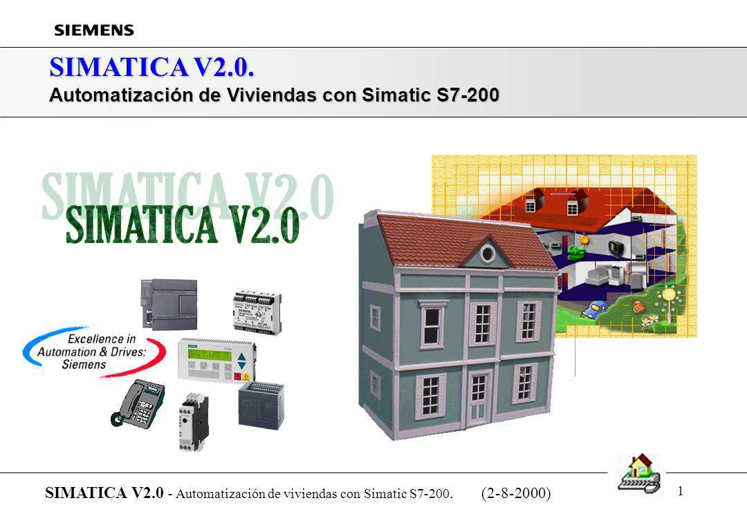 SIMATICA V2.0. Automatización de Viviendas con Simatic S7-200. SIMATICA V2.0 - Automatización de viviendas con Simatic S7-200. (2-8-2000)
