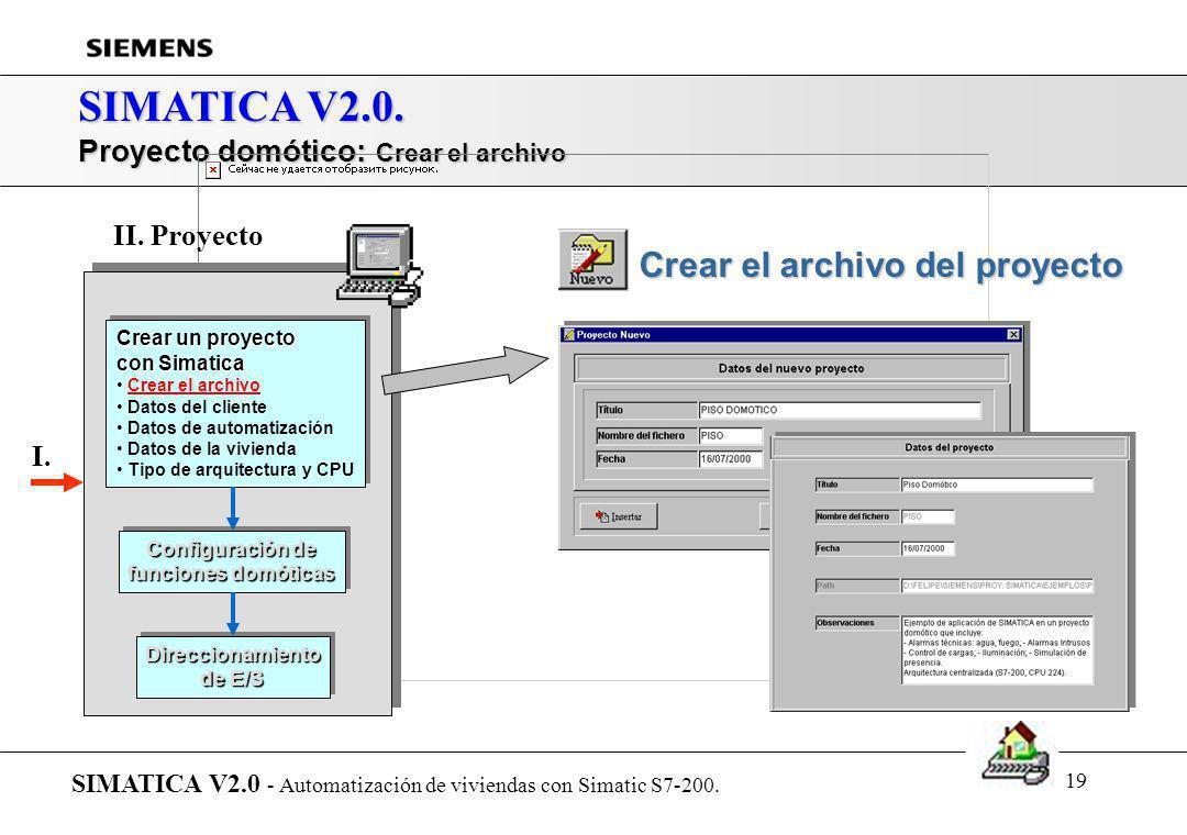 SIMATICA V2.0. Crear el archivo del proyecto