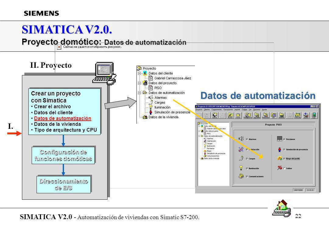 SIMATICA V2.0. Datos de automatización