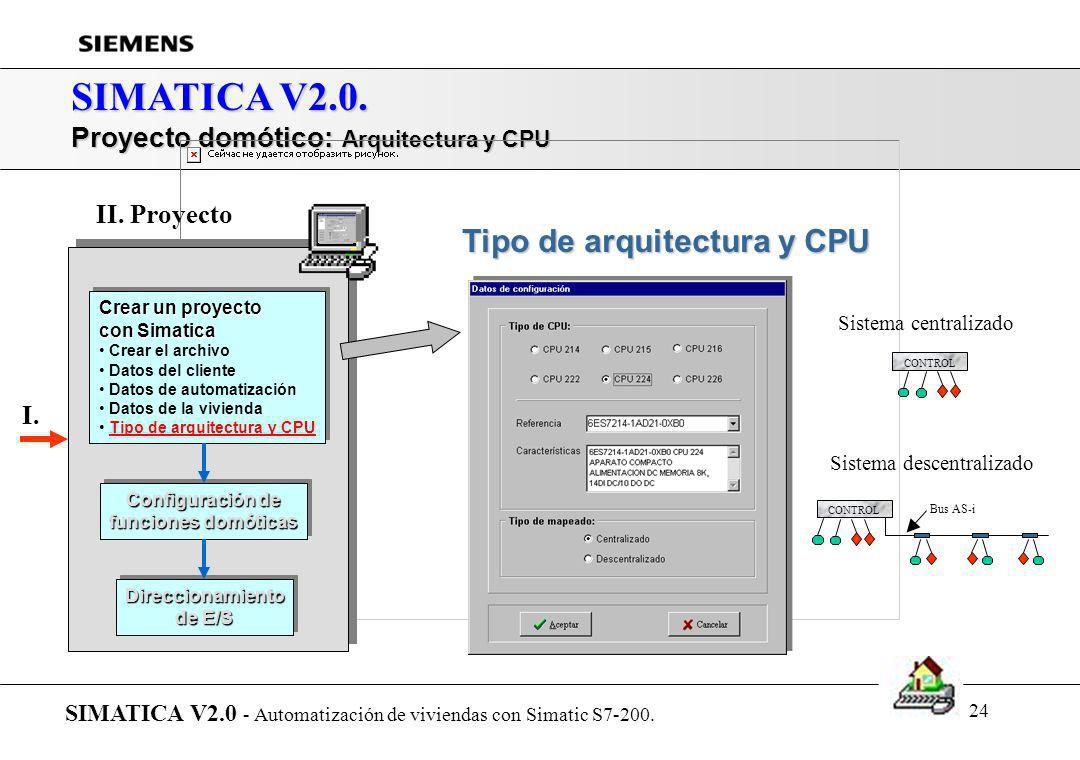SIMATICA V2.0. Tipo de arquitectura y CPU