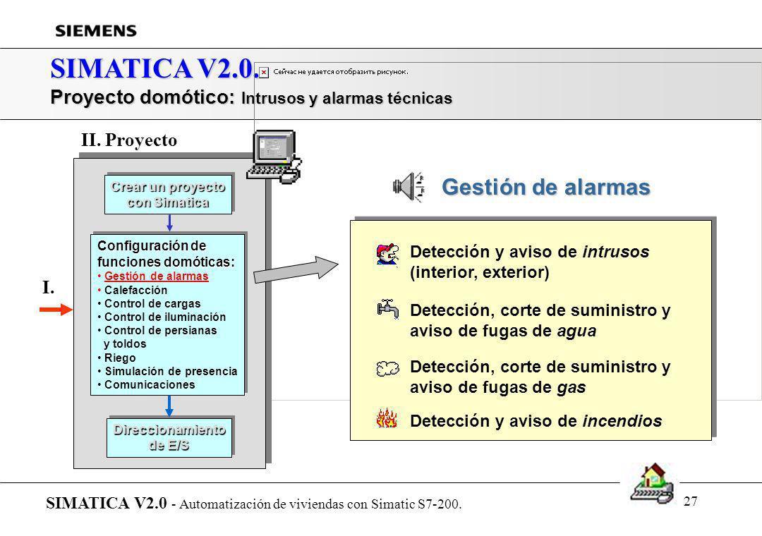 SIMATICA V2.0. Proyecto domótico: Intrusos y alarmas técnicas