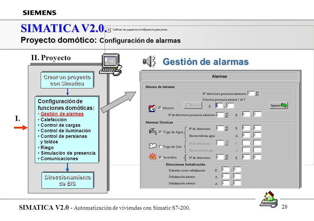 SIMATICA V2.0. Proyecto domótico: Configuración de alarmas