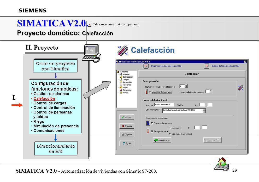 SIMATICA V2.0. Proyecto domótico: Calefacción II. Proyecto I.