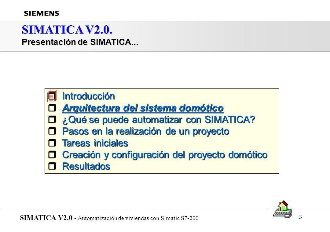  SIMATICA V2.0. Introducción Arquitectura del sistema domótico